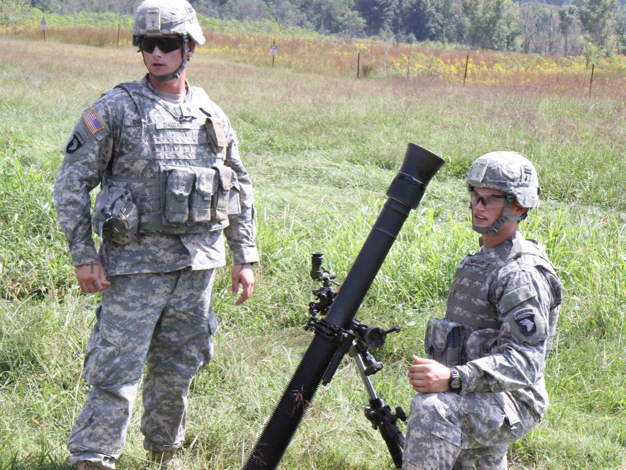 Mortar In Field : Mortars fire in the field exercise for excellence