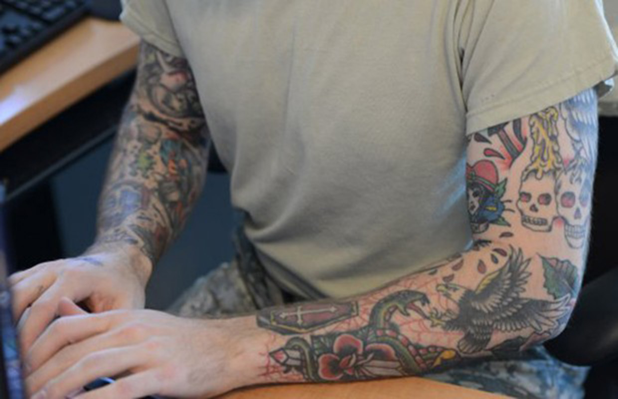 Army Soldier Grandfathered In Under Tattoo Policy Clarksvillenowcom