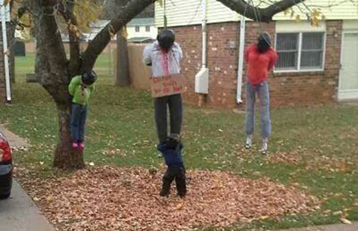 Fort Campbell removes disturbing Halloween display ...