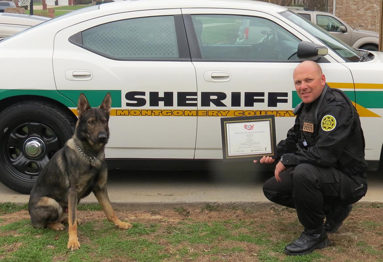 Sheriff's office K9, deputy receive Criminalistic ...