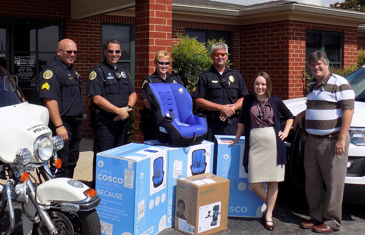 premier medical group donates car seats to clarksville police department. Black Bedroom Furniture Sets. Home Design Ideas
