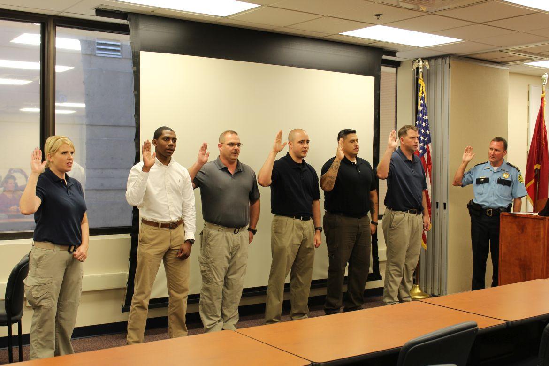 Mcso Swears In New Deputies Clarksvillenow Com