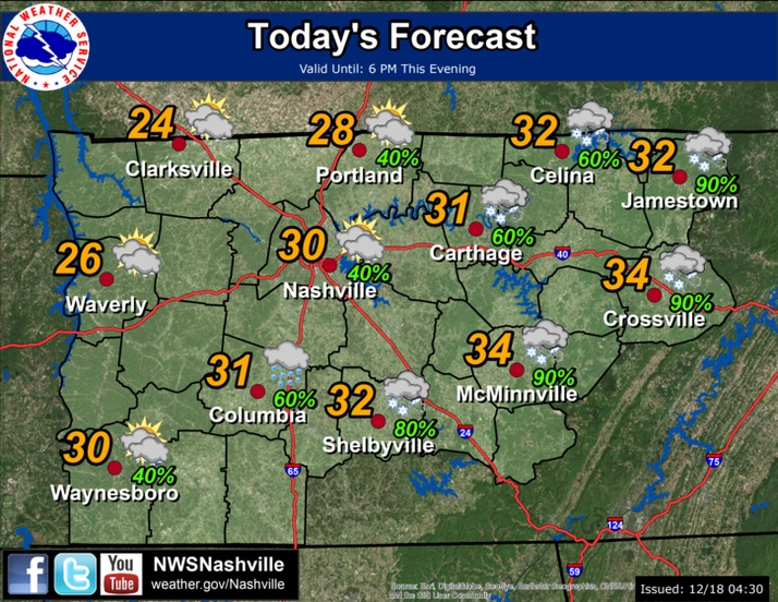 Light freezing rain likely temperatures in mid 20s for Today s fishing forecast