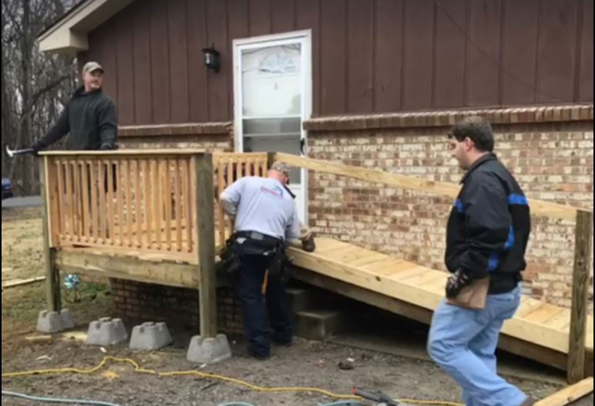 CMCSS Employee Helps Build Wheelchair Ramp For Disabled Student |  ClarksvilleNow.com