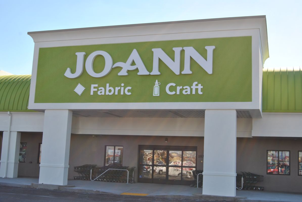 Jo ann fabric and craft celebrates grand opening this week for Joann fabric craft stores