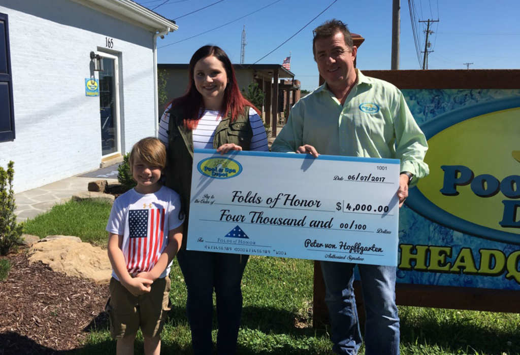 Pool Spa Depot Donates 4 000 To Folds Of Honor