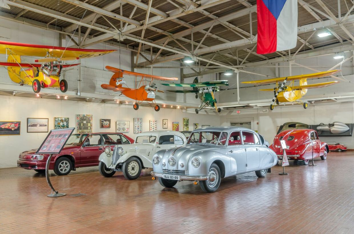 Unique Car Exhibits On Display At Lane Motor Museum