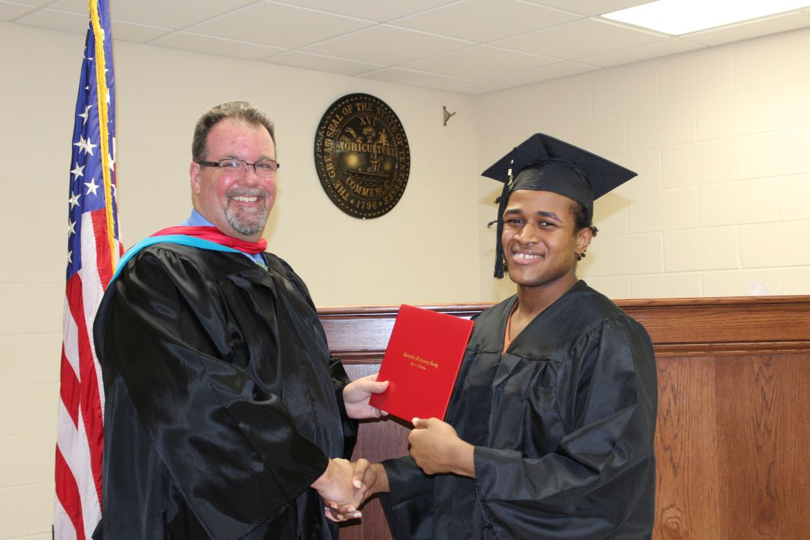 1st and 2nd classes graduate from ged program for montgomery county