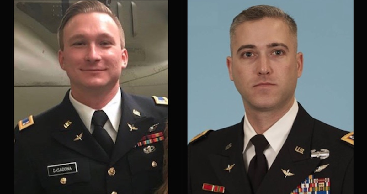 Names released of 2 soldiers killed in helicopter crash at Fort Campbell