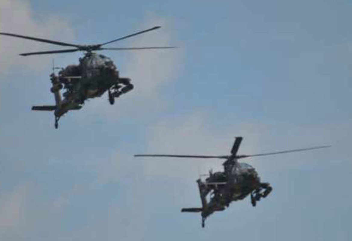 Apache Helicopters From Fort Campbell Will Conduct A Flyover Of