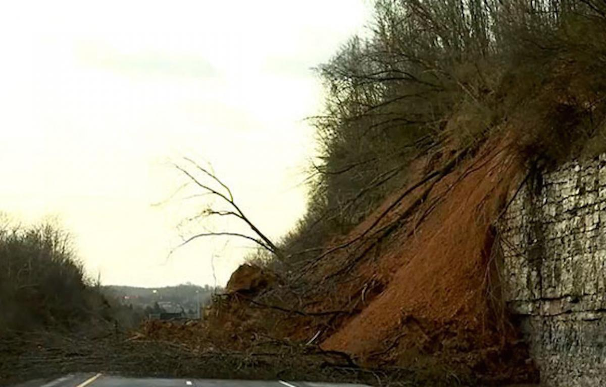TDOT: I-24 lane closures near rock slide could be in place