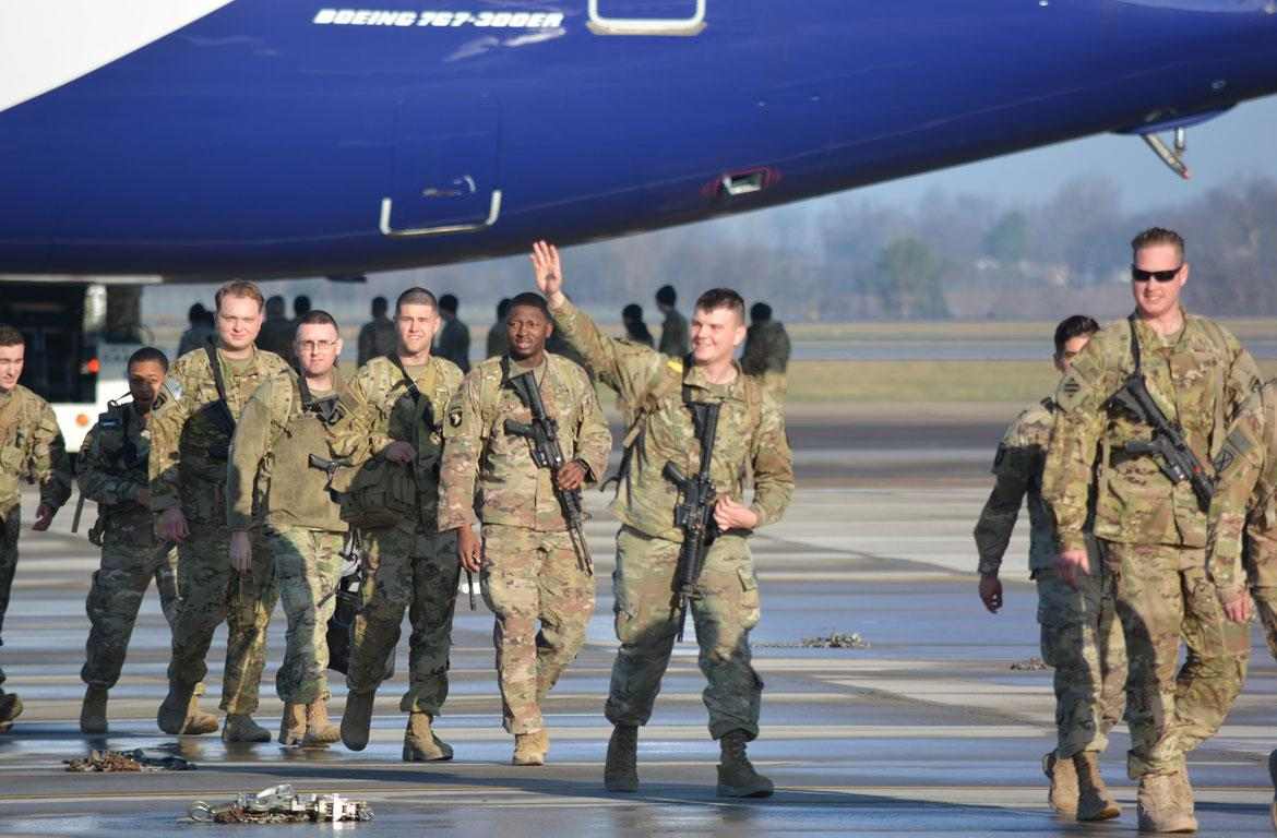 101st Airborne Division soldiers returning from Cameroon
