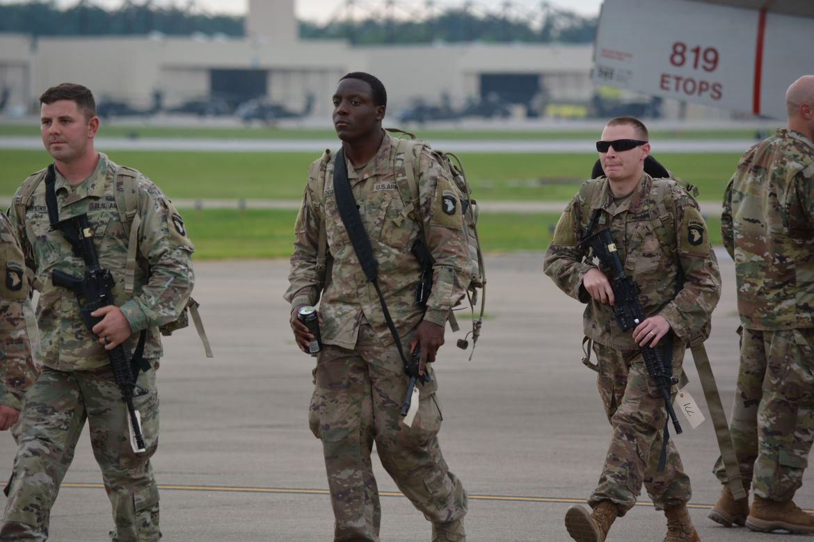 PHOTOS: More than 140 soldiers return home from deployment